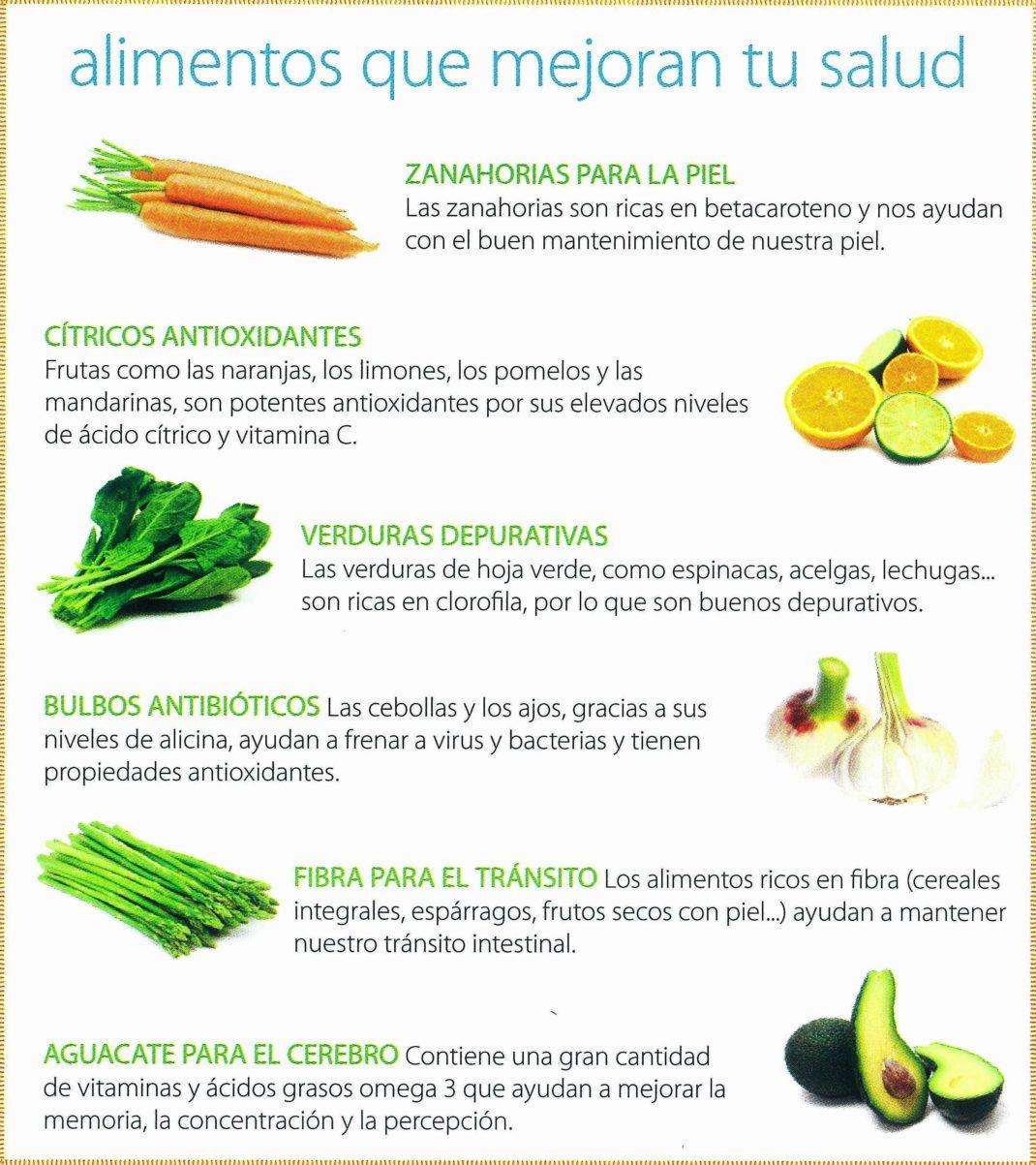 alimentación que mejora la salud
